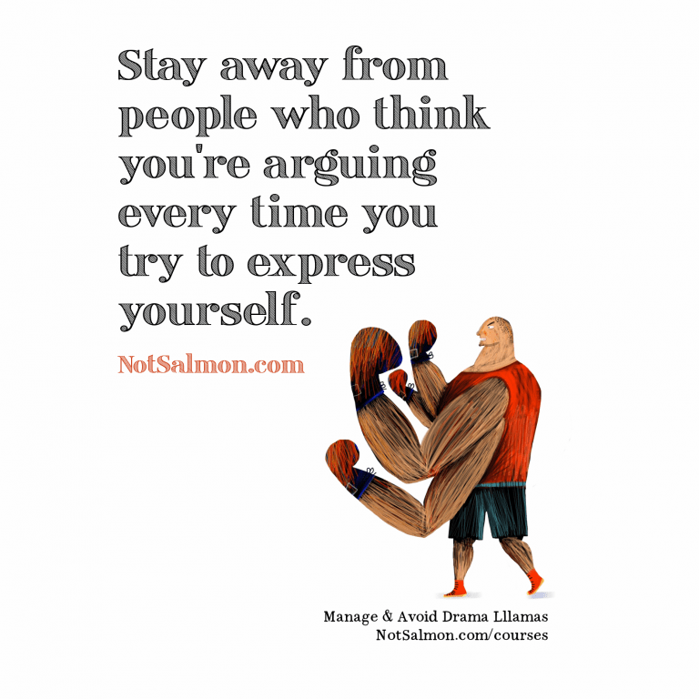 Stay away from people who...