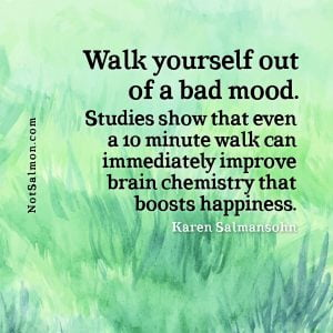 hiking and walking for improved mood