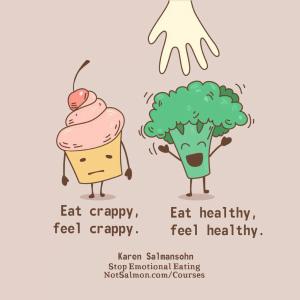 eating healthy crappy