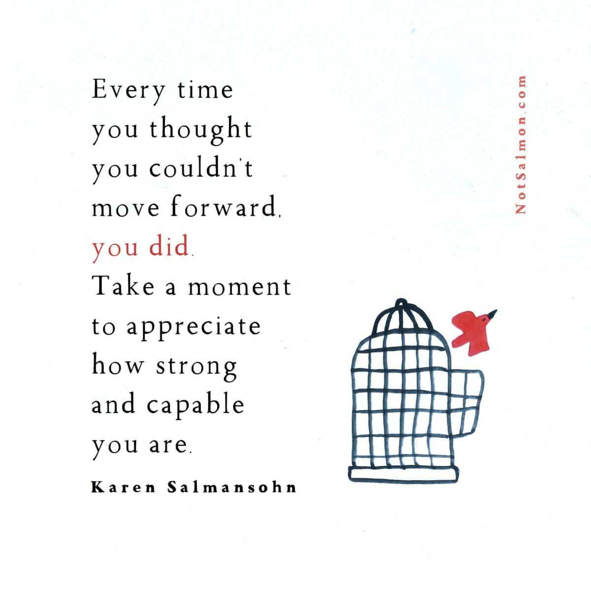 quote strong and capable move forward