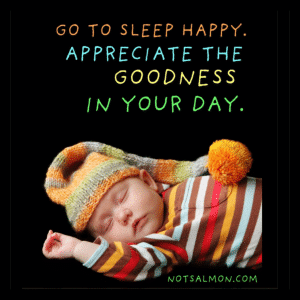 go to sleep happy