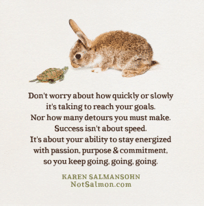 success quickly slowly