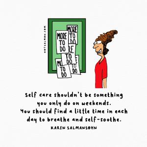 self care reduce stress
